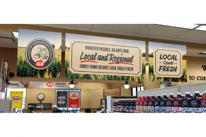 IGA Local Equals Fresh outdoor signage