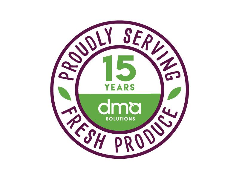 DMA Solutions 15-year logo