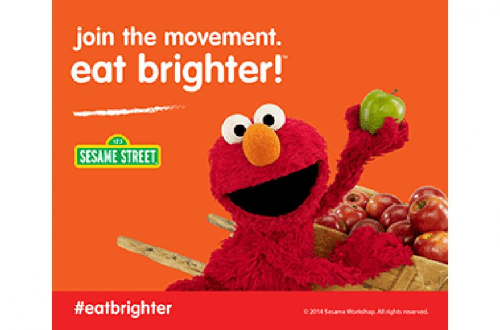 Eat brighter campaign Elmo