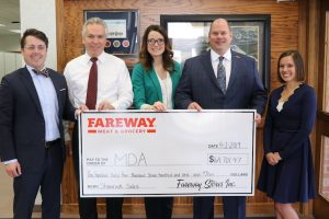 Fareway made a $164K donation to Muscular Dystrophy Association of Iowa.
