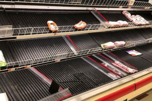 Stop & Shop empty meat case
