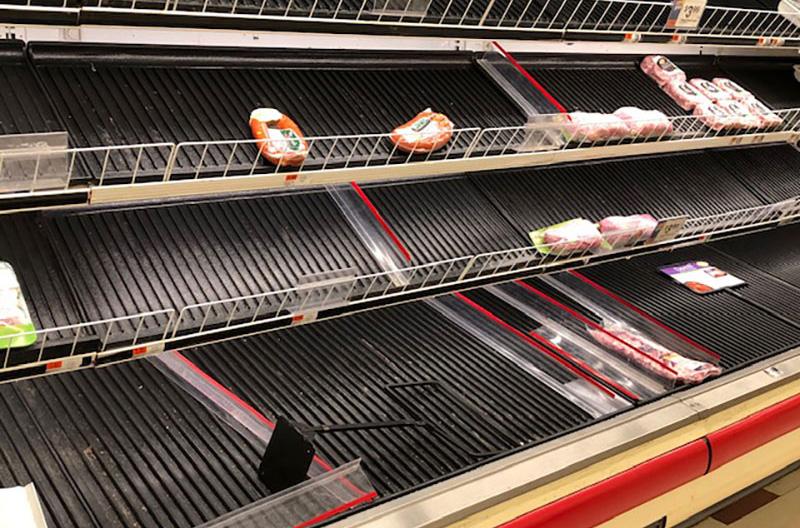 Stop & Shop empty meat case