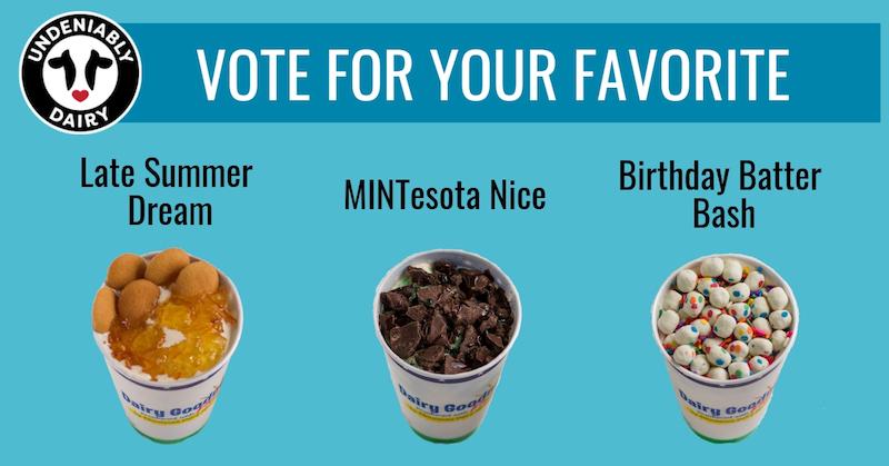 Vote for favorite flavor graphic