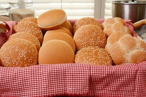 Mid South Baking Co. buns in a basket