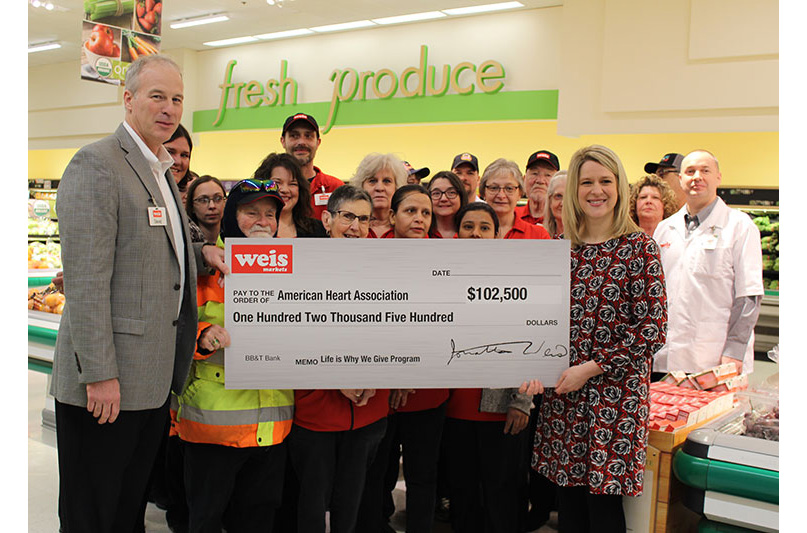 Weis donation to AHA