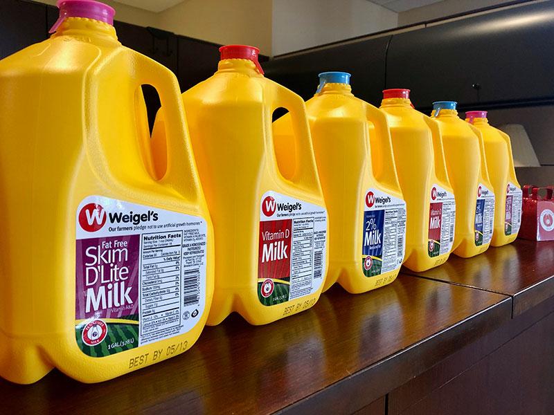 Weigel's Tennessee milk