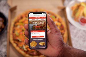 Pizza ordering at Caseys.com