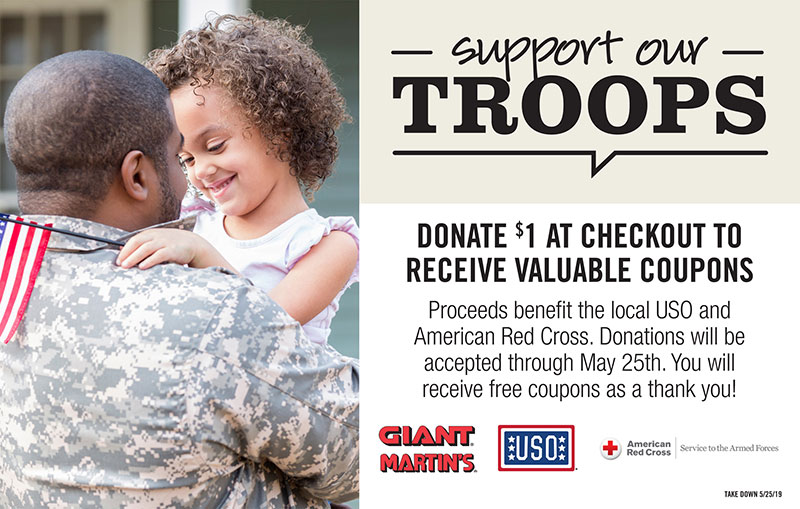 Troops fundraiser, Giant Martin's