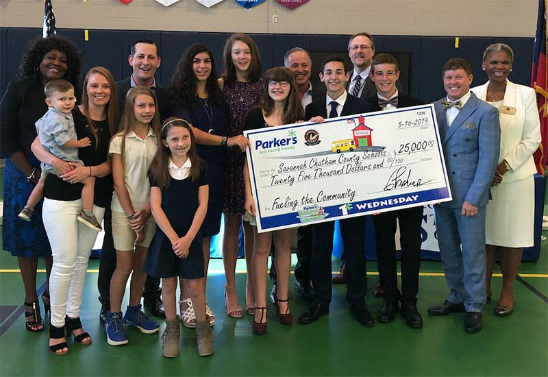 schools donation, Parker's