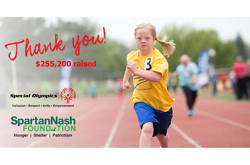 SpartanNash Foundation support Special Olympics thank you