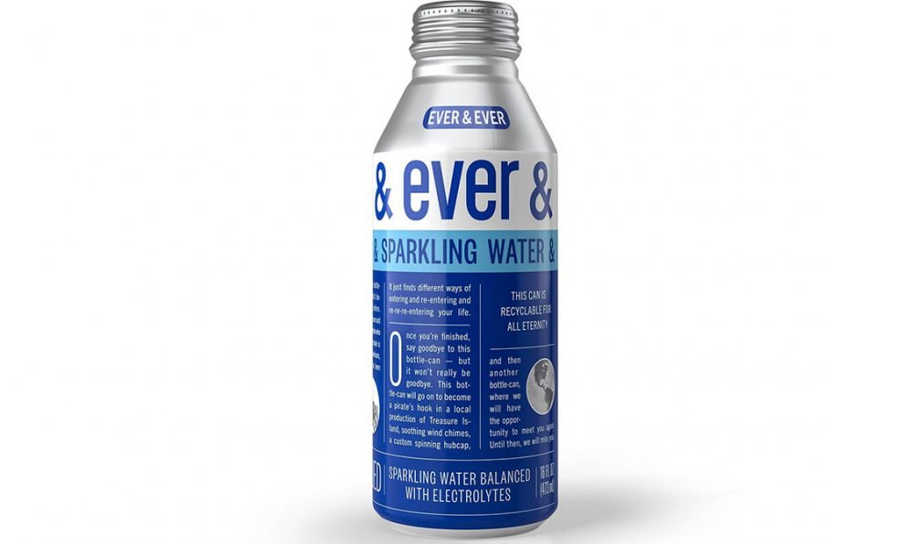 Ever & Ever canned water, sparkling