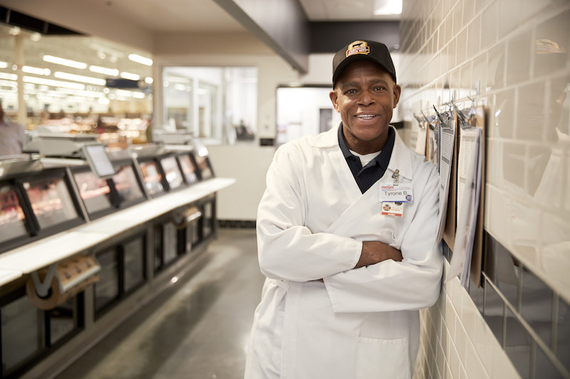 Tyrone Bray, meat counter