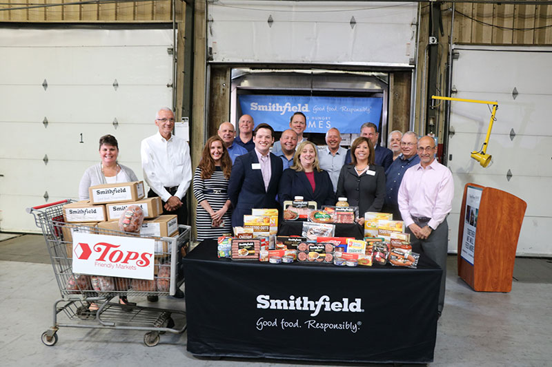 Smithfield and Tops donation