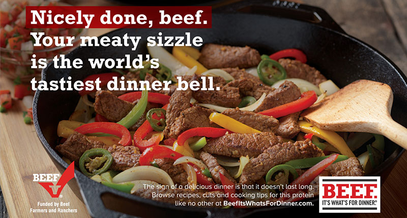 sizzle Beef campaign