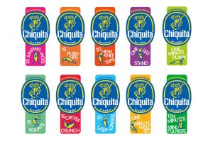 Chiquita banana fitness stickers