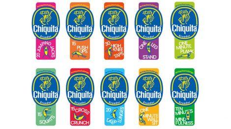 Chiquita banana fitness stickers