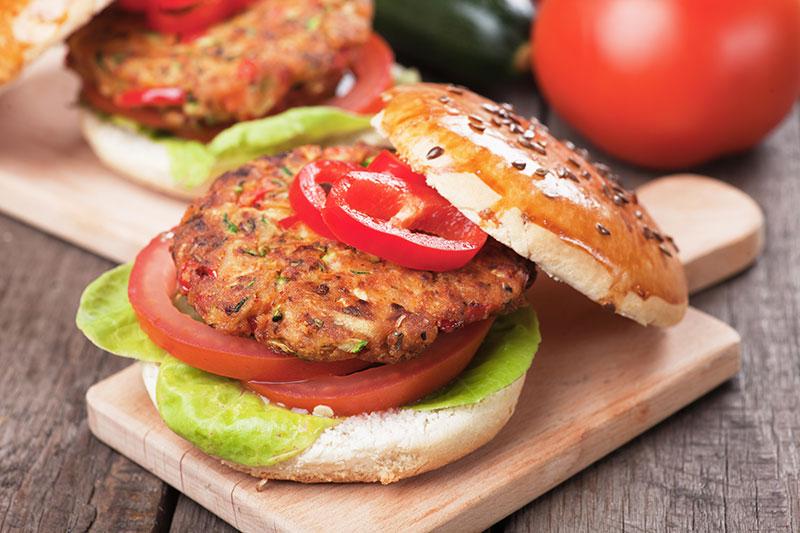 meat substitutes, veggie burger