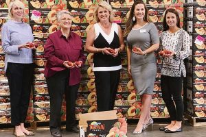 Peach donations, Harris Teeter Titan Farms