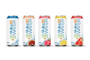 The Alkaline Water Co. canned line
