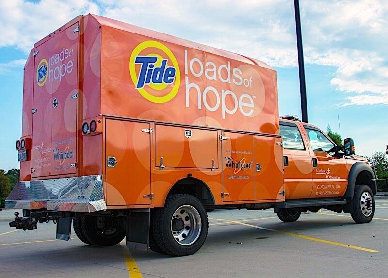 Tide Loads of Hope mobile laundry