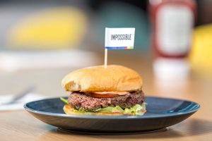 Impossible Burger cooked burger