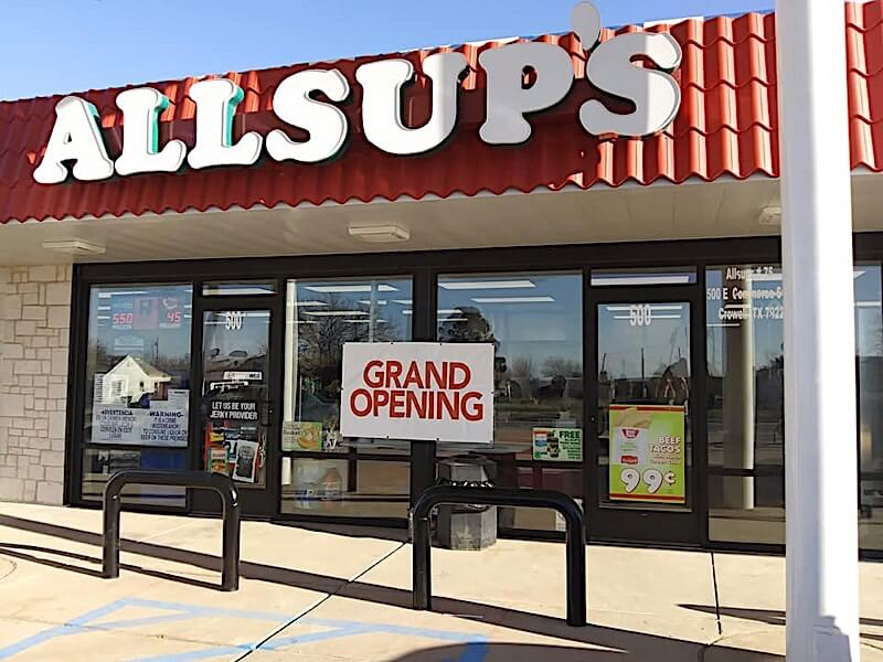 Allsup's in Crowell, Texas.