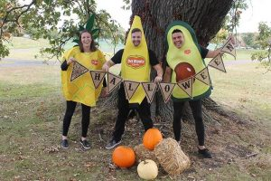 Del Monte fruit costumes