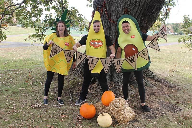 Del Monte fruit costumes