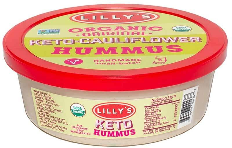 organic hummus compatible with keto diet