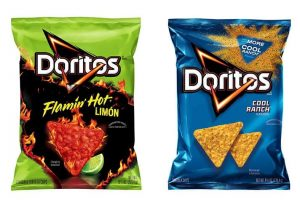 Doritos Flamin' Hot Limon and Cool Ranch