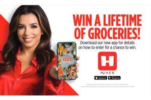 H-E-B Big Game lifetime groceries