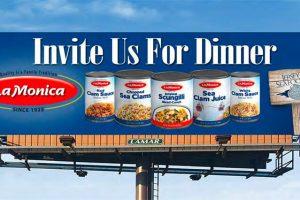 LaMonica Seafood billboard