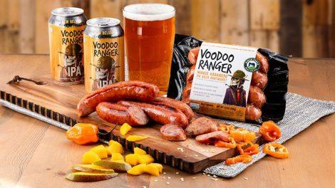 Voodoo Ranger brats Niman Ranch New Belgium Brewing
