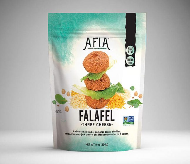 Afia frozen falafel three cheese