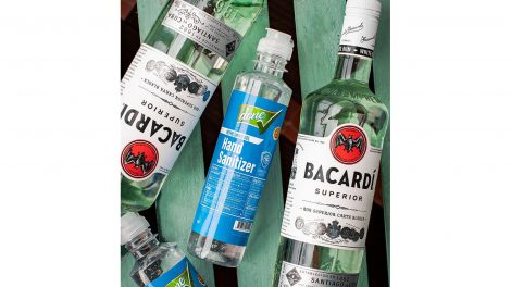 Bacardi hand sanitizer Covid-19