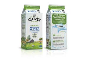 Clover Sonoma renewable milk carton