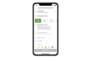 Instacart, delivery options