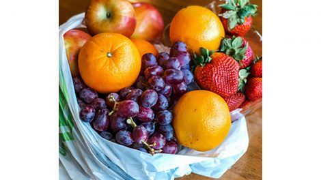 Taziki's Mediterranean Market, fruit bag