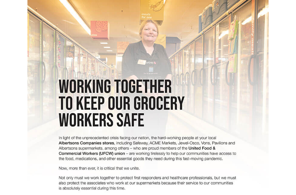 Albertsons Cos., UFCW, first responders
