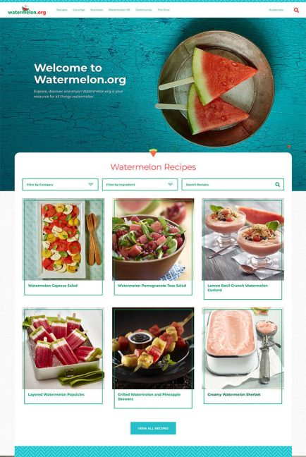 watermelon website, recipes