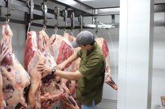 Wiatrek's Meat Market hanging beef, Ray