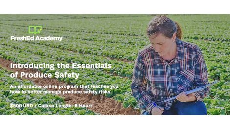 PMA Essentials of Produce safety