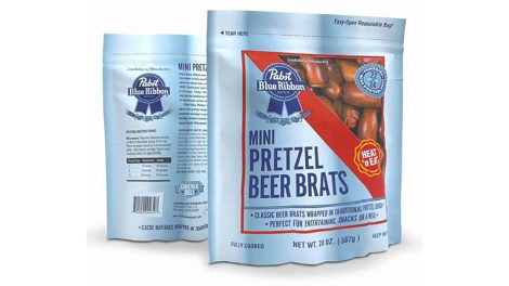 Pabst Blue Ribbon pretzel beer brats