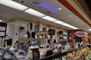 Sentry Foods blue lights