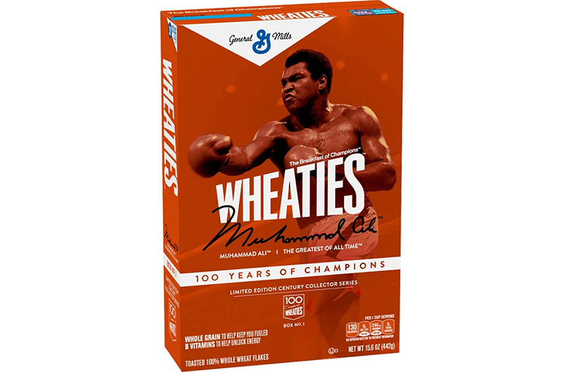 Wheaties Celebrates Century With Greatest Of All Time: Muhammad Ali